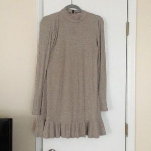 Long sleeve sweater dress—thin and breathable